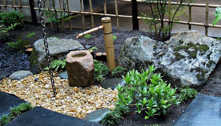 Giardino giapponese roccioso