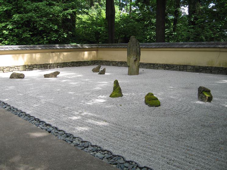 Esempio di giardino zen secco