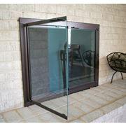 Caminetto con porta in vetro