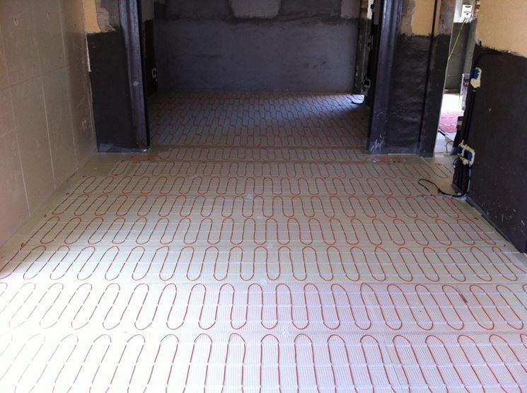 esempio di impianto a pavimento elettrico