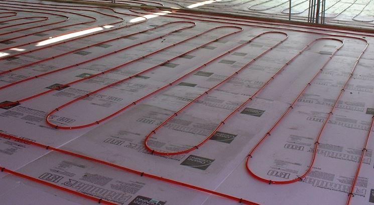 esempio di un sistema radiante a pavimento
