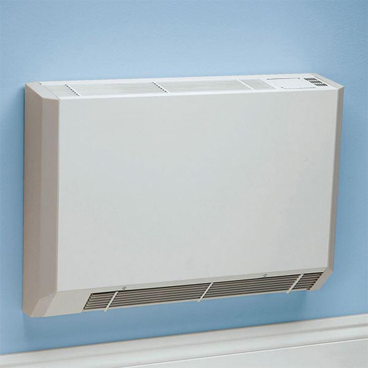 Esempio di ventilconvettore a parete