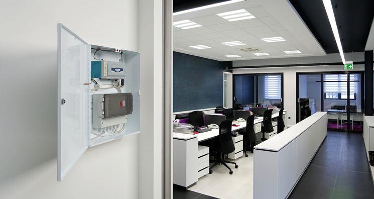 Illuminazione di emergenza in ufficio