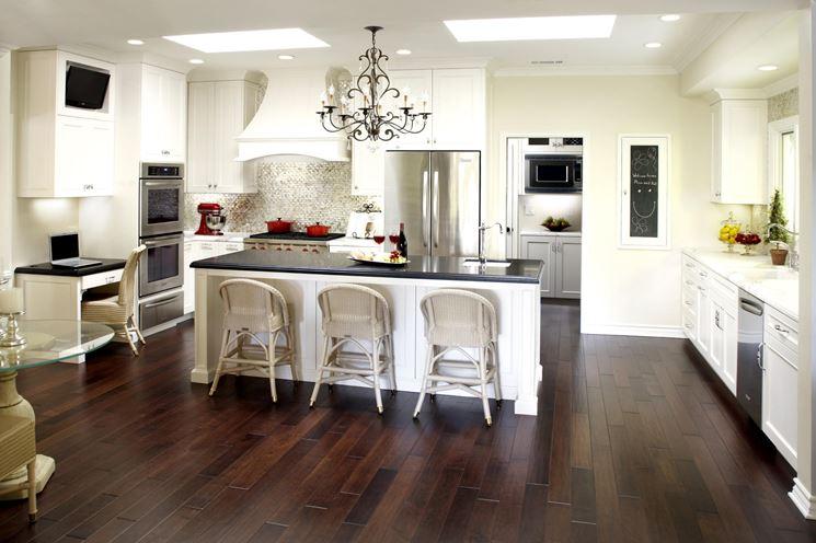Illuminazione interna di una cucina