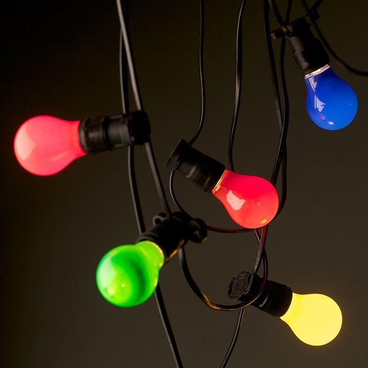 Lampadine colorate esterno