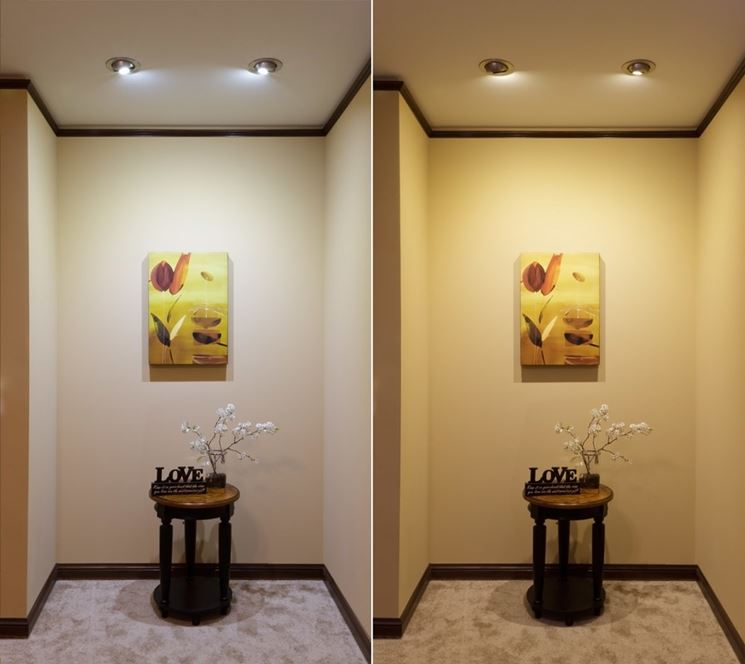Differenza tra luce calda e luce fredda