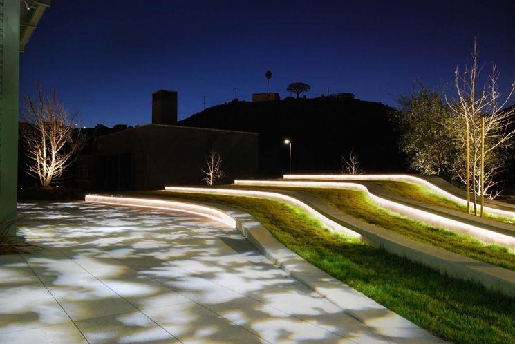 illuminazione indiretta da esterno