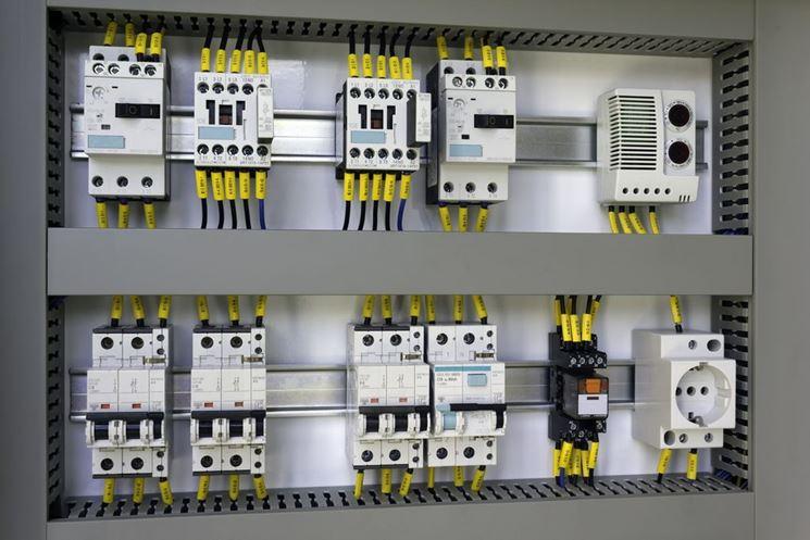 Dettaglio di un impianto elettrico