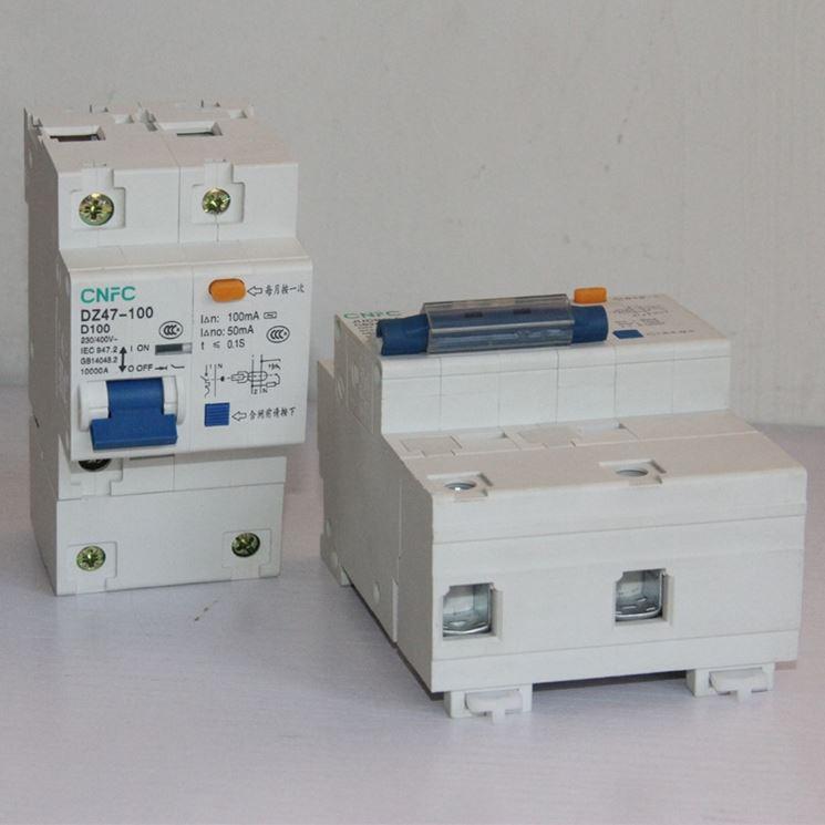 Schema Collegamento Magnetotermico E Differenziale : Interruttore differenziale salvavita impianto elettrico