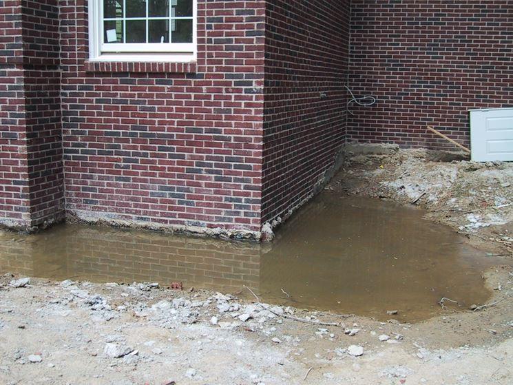 Errato drenaggio dell'acqua piovana