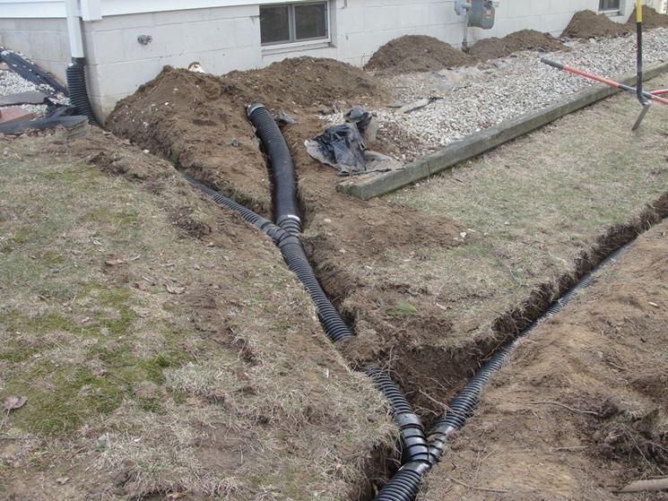 Installazione drenaggio
