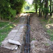 Impianto di irrigazione del giardino