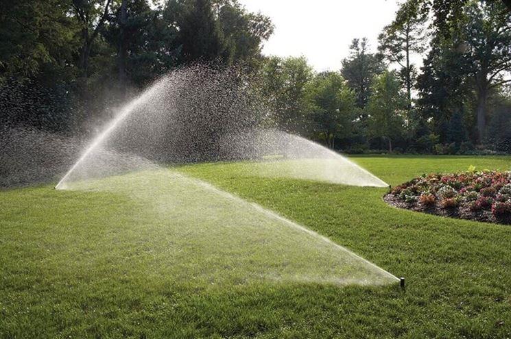 Giardino con irrigazione automatica