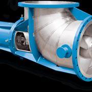Sezione di una pompa di circolazione centrifuga