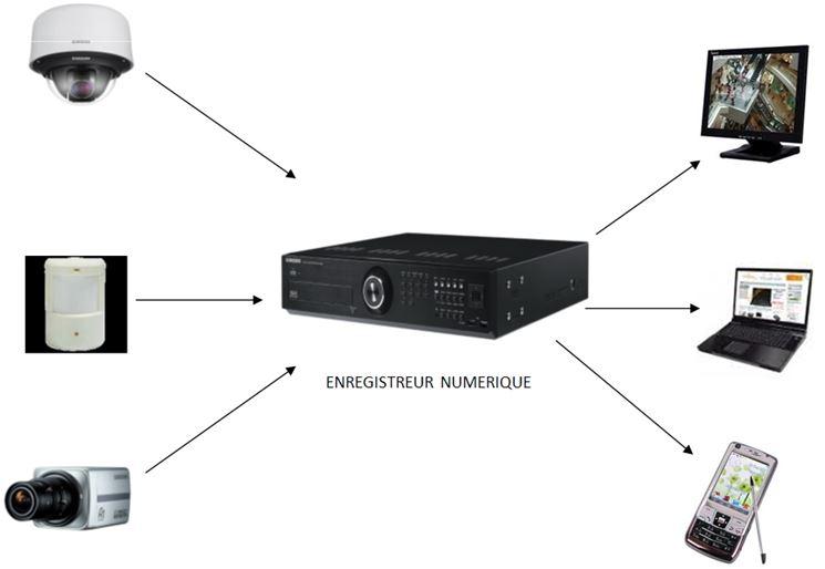 Schema di videosorveglianza CCTV IP