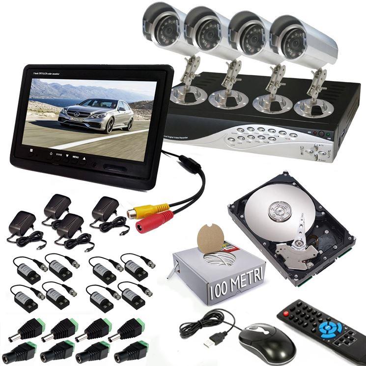 Kit di videosorveglianza