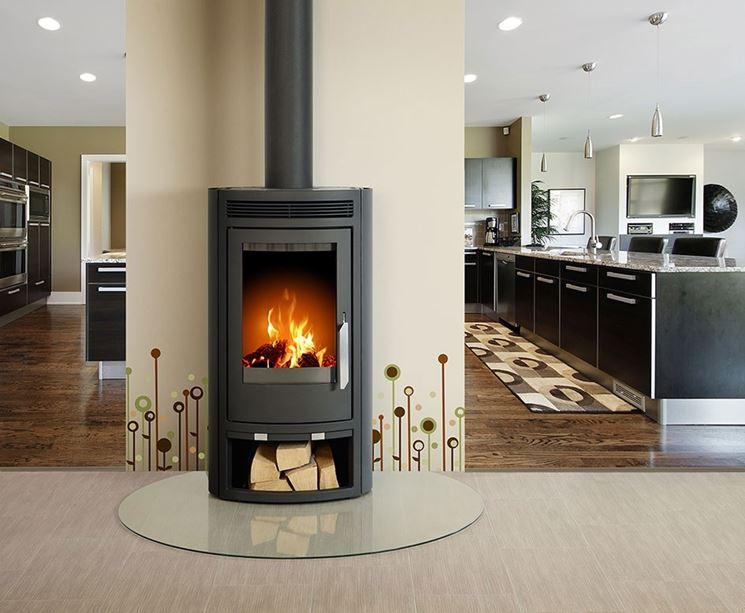 Stufe a legna moderne stufe a pellet installare stufe for Casa moderna kw