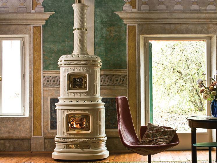 stufa in ceramica classica