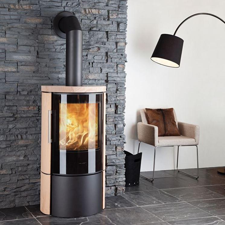 termostufa a legna moderna
