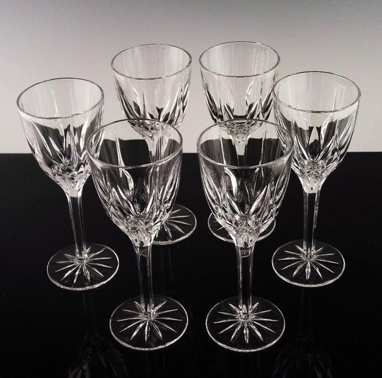 Servizio di calici da vino in cristallo