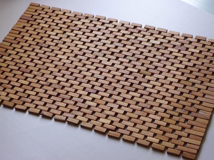 Tappeto in legno moderno