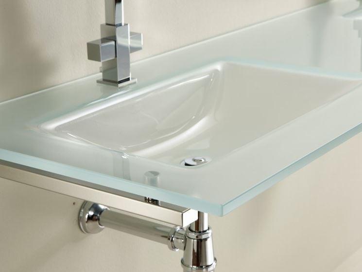 lavabo in cristallo moderno
