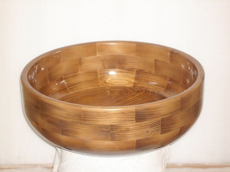 Lavabo legno rotondo