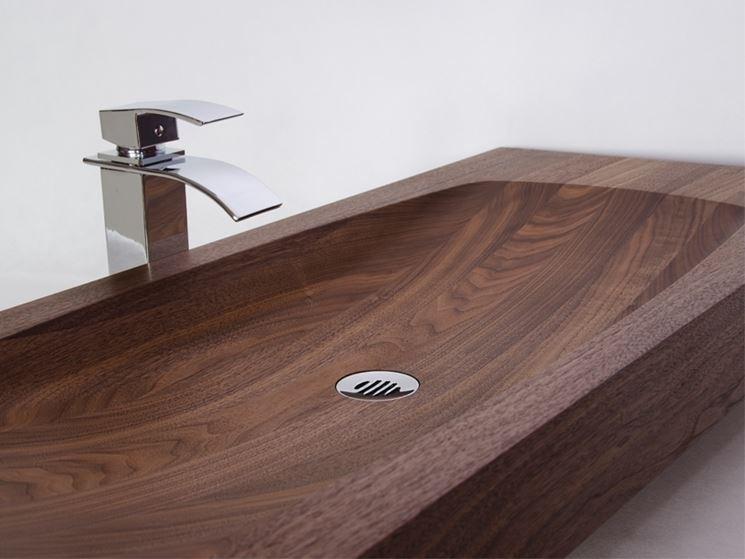 Lavabi in legno - Bagno e sanitari - Materiale lavandini