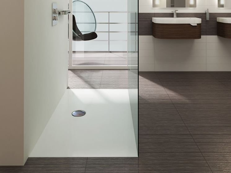 Estetica dei piatti doccia filo pavimento