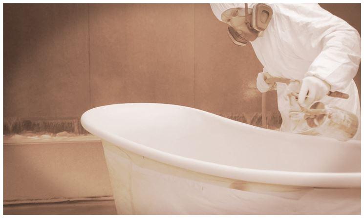 Smalto vasca da bagno bagno e sanitari protezione vasca for Vernice per vasca da bagno