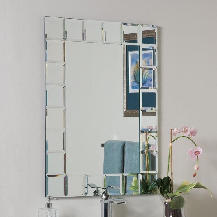 Originale specchio rettangolare