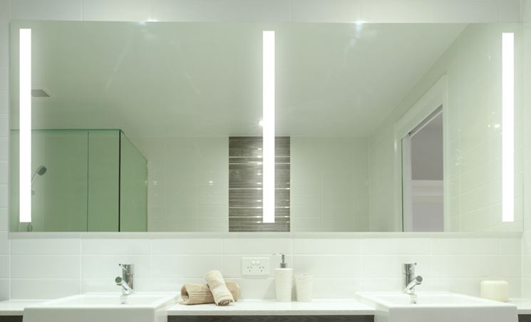 Specchio in bagno a parete