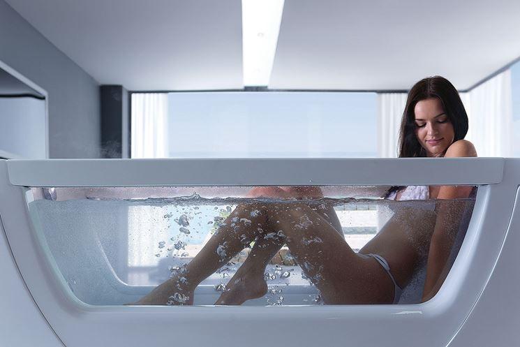 Vasche da bagno in vetro bagno e sanitari - Vasca da bagno in vetro ...