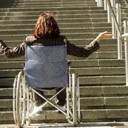 Un disabile e le scale