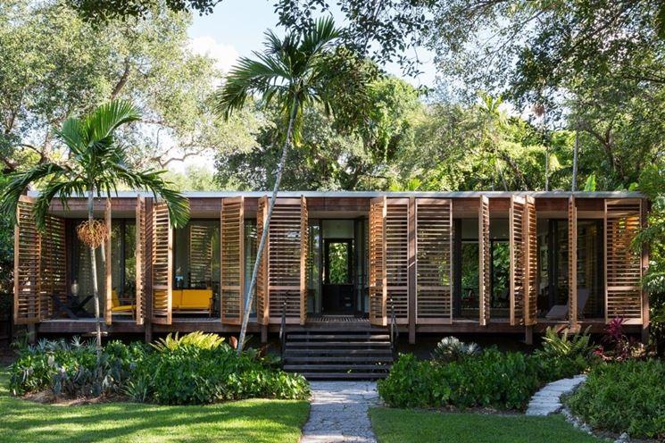 Una casa in legno ecosostenibile