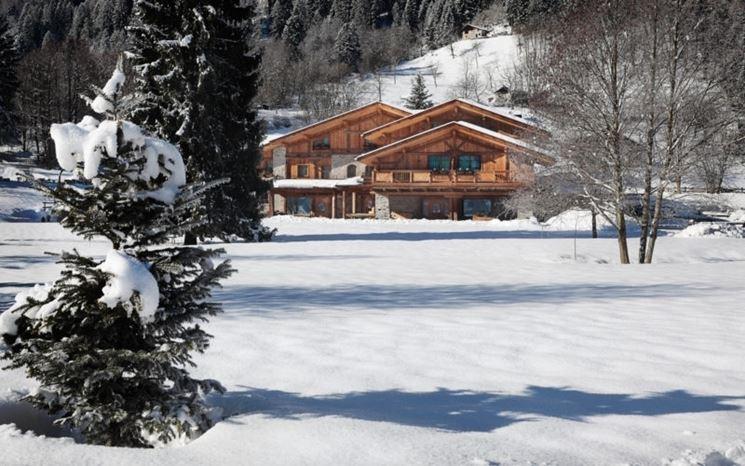 Casa in montagna inverno