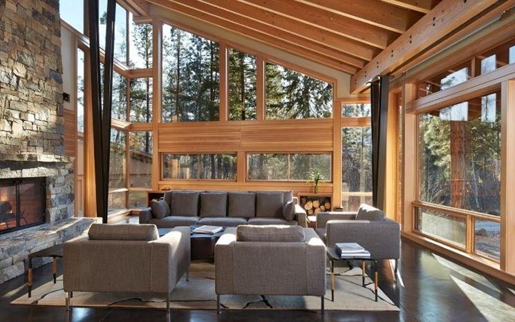 Casa in montagna living