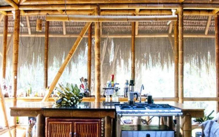Interno di casa in bamboo