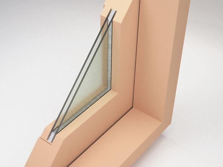 Un modulo di finestra a doppio strato