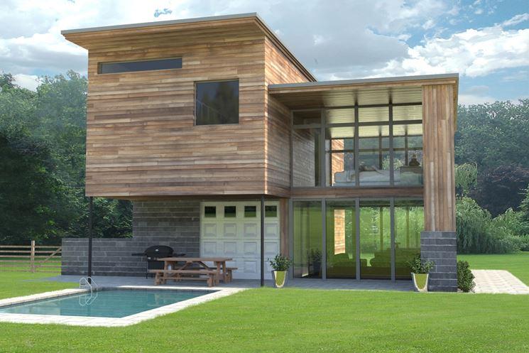Casa contemporanea in legno