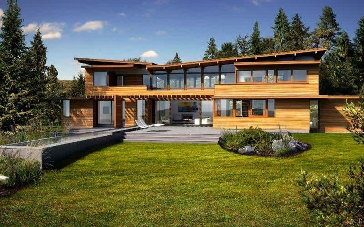 Esempio di casa del futuro in legno