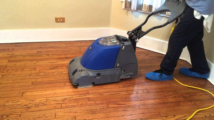 Robot per la pulizia del parquet