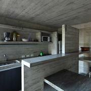 Cucina in muratura moderna per interno