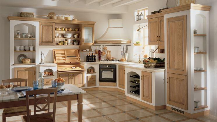 Cucina rustica legno