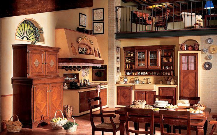 Cucina in muratura in stile country
