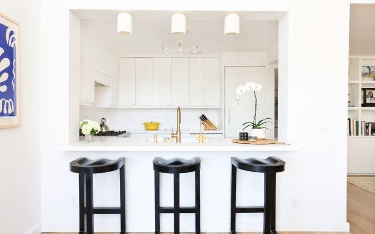 Cucina minimal total white