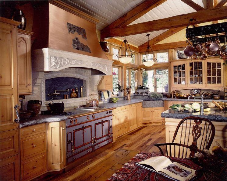 Cucina rétro in legno