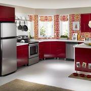 Cucina rossa fiammante