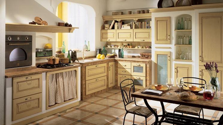 Cucina in finta muratura Scavolini Belvedere