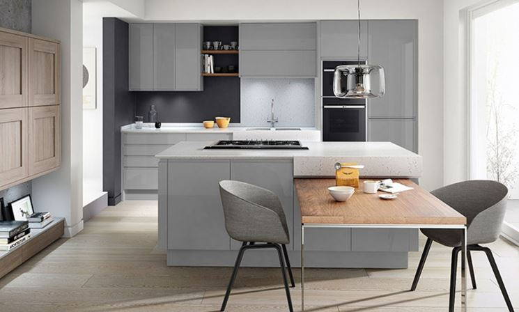 Cucina moderna chiara